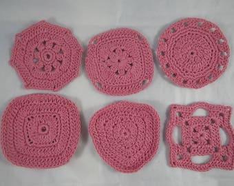 SousVerre04 - Set of 6 pink coasters