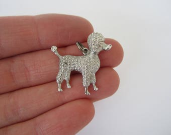 Sterling Silver Poodle Charm, Dog Charm, Puppy Jewellery