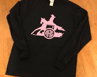 Monogram Barrel Racing Shirt
