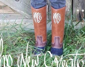 Monogrammed Duck Boots, Tall Duck Boots, Duck Boots, Monogrammed Boots, Gift for Her, Boots, Chloe Boots, bean boots, Sale