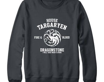 House Targaryen Shirt Fire And Blood Shirt Dragonstone Shirt Game of Thrones Shirt Game Of Thrones Sweatshirt Oversized Women Sweatshirt Men