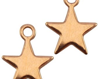 "DQ Metal Pendant ""stern"", Charm-3 pcs.-15 x 12 mm-Zamak-color selectable (color: Gold)"