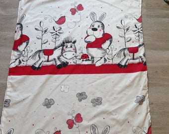 Pretty sweet minkee baby blanket