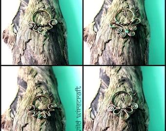 New Design Wire Septum/Wire Wrap Septum/Boho Septum Ring/Nose