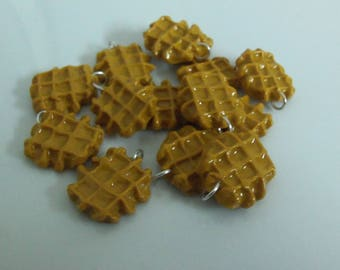 Set of 5 charms delicacies waffles