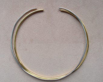 Douable Metal Choker Necklace/ Summer Choker, Gold choker collar/Gold Choker/ Silver Choker Necklace/ Silver Boho Choker/thin  metal choker