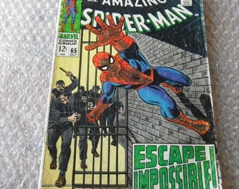 """ON SALE Marvel Comic """"The Amazing Spider-Man"""" Issue 65 October 1968,Used/Pre-Owned"""