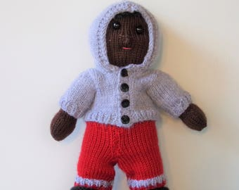 Knitted Doll with Jogging Set (Jesiah)
