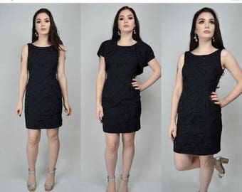 SALE Drew | Small | 1980s Vintage Little Black Dress 80s LBD Holiday Outfit