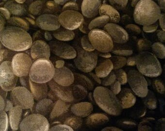 Floral Vignette by Paintbrush #914 Grey Pebbles Quilt Fabric 100% Cotton End of Bolt -  1 Yard