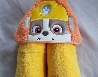 Puppy Hooded Towel.Kids Hooded Towel,Child's Hooded Towel,Personalized Hooded Towel,Hooded Bath Towel,Hooded Beach Towel,Kids Bath Towel