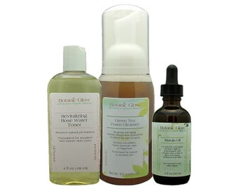 Ageless Beauty Renewal Anti -Aging Skin Care Kit 3pcs - All-Natural - Organic