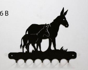 Hangs 26 cm pattern metal keys: donkey + anon