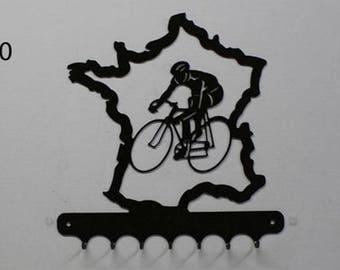 Hangs 26 cm pattern metal keys: cycling, tour de France