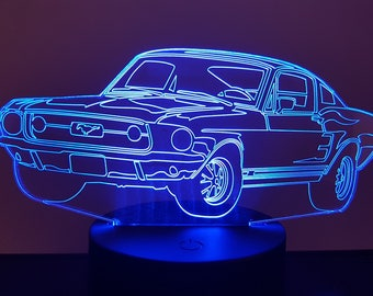 Lamp 3D design: Ford Mustang