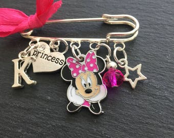Minnie Mouse kilt pin brooch