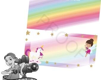 Unicorn & Fairy Food Tent Cards