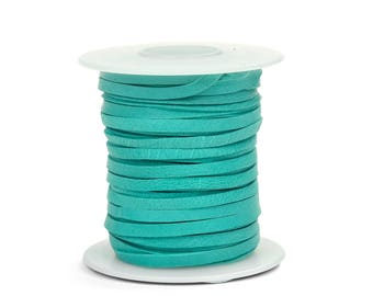 Turquoise Deerskin Lacing - (1) 50 foot spool, 1/8th inch lace.  Deerskin lace. (297-18x50TQ)