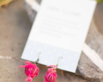 Rose buds suspended earrings • one size