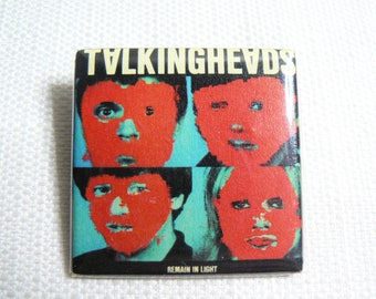 Vintage Early 80s Talking Heads - Remain In Light Album (1980) Pin / Button / Badge