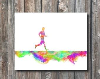 SALE PRINTABLE Marathon Runner Wall Art-Digital Wall Art-Printable Sport Print-Printable Home Decor-Sport Wall Print-Instant Download-MRW