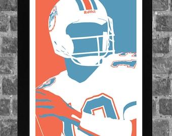 Miami Dan Marino Sports Print Art 11x17
