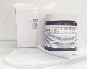 BAREFOOT CARE KIT | Buttercrème & Eco Friendly Bamboo Socks | Gift Box | Christmas Gift |