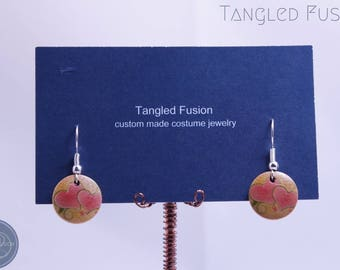 Quirky Handmade Wood Drop Earrings