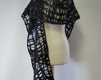The hot price. Black wool scarf, perfect for gift.
