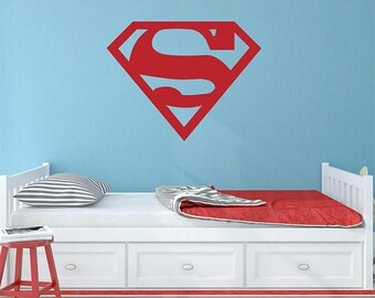 Superhero Wall Decal | Etsy