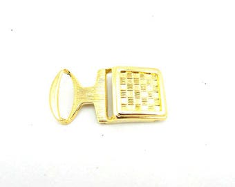 Vintage brass belt buckle 70's