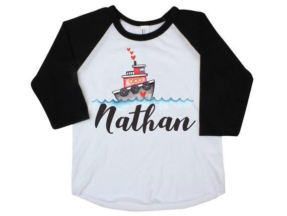 Boy Valentine Shirt Onesie Red Raglan Boat Heart Shirt Navy Coast Guard Valentine's Day Boy Shirt Boy Baby Onesie Boy Bodysuit Boy Raglan