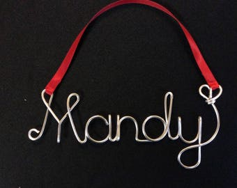 Holiday gift,Personalized Ornament,Mandy  ornament,christmas ornament
