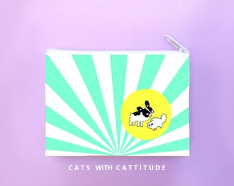Dog Zipper Pouch-Cats and Dogs-Gift For Pet Lover-Zipper Pouch-French Bulldog-Cat-Pet Lover Gift