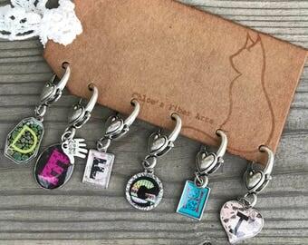 Hook'em Stitch Markers, hook size stitch markers, crochet stitch markers, stitch markers, crochet, knitting