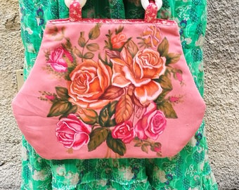 Hand painted pink bag