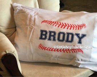 Pillowcase Baseball Pillowcase Personalized Baseball Pillowcase Personalized Pillowcase Custom Pillowcase Baseball