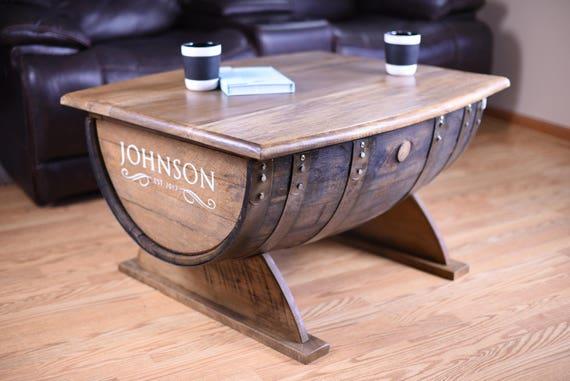 Wine Barrel Coffee Table.Coffee Table.Whiskey Barrel Coffee Table.Wine Barrel  Table
