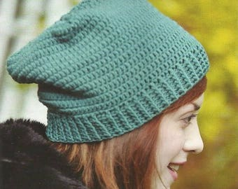 Crochet Square Beanie PDF Pattern Instant Download