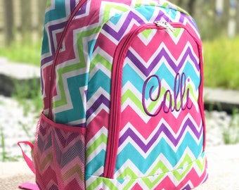 Rainbow Backpack, Pink Backpack, Multicolor Backpack, Purple Backpack, Red Backpack, Orange Backpack, Monogrammed backpack, Girl Backpack