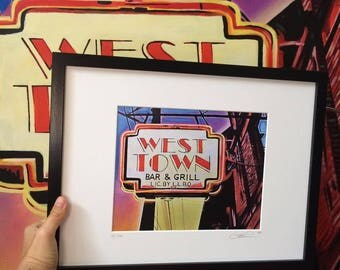 West Town Limited Edition 8x10 Framed Print