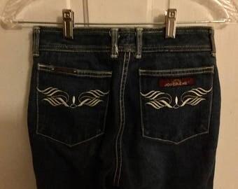 Jordache Blue Jeans - Dark Wash Denim - 1980s - Women's Size 10, Medium