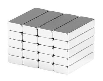 3/4 x 1/4 x 1/8 Inch Neodymium Rare Earth Bar Magnets N48 (20 Pack)