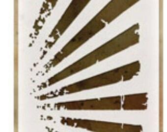 Rays layering stencil