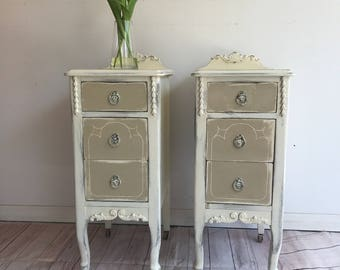 Antique Nightstand, Bed Side Table, Vanity Tables