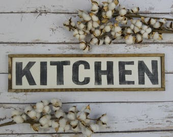 Distressed Wood Sign Rustic Kitchen Wall Decor