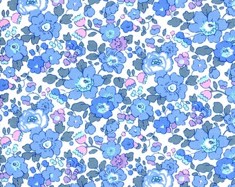 Liberty Tana Lawn Betsy A Classic collection, buy by the fat quarter/ metre blue floral