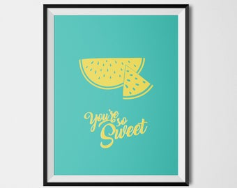So Sweet watermelon colored poster