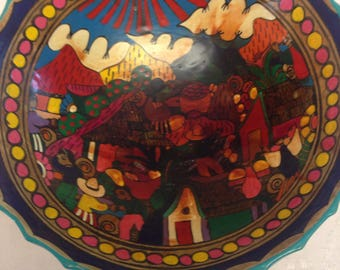 Mexican Hand Painted Bowl Talevera
