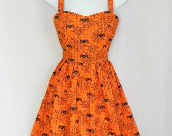 Halloween spider web dress